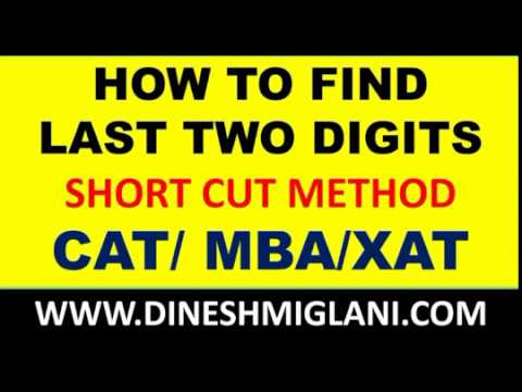 HOW TO FIND LAST TWO DIGITS of ANY POWER NUMBER SYSTEM FOR CAT SSC