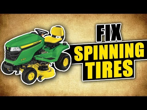 Fix Lawn Mower Tires from Spinning and Getting No Traction