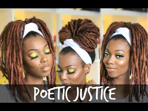 Poetic Justice Head Wrap Tutorial | For Braids, Twists & Locs