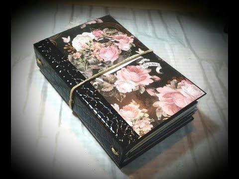 Prima Amelia Rose  Homemade Travelers Notebook