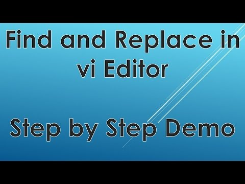 Find and Replace a word in vi editor | Replacing Exact Word Demo