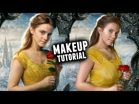 'BEAUTY AND THE BEAST' BELLE MAKEUP & HAIR TUTORIAL🌹 (Emma Watson 2017)