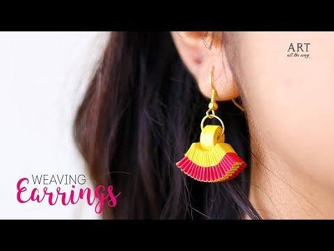 Paper Weaving Earrings | Handmade Jewellery | Paper Quilling
