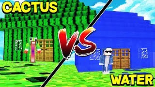WATER HOUSE VS CACTUS HOUSE VS TNT HOUSE! - MINECRAFT