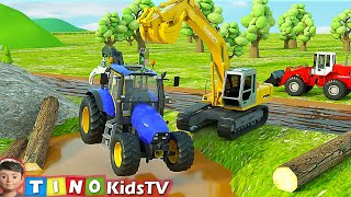Tractor and Construction Trucks for Kids | River Driver Construction