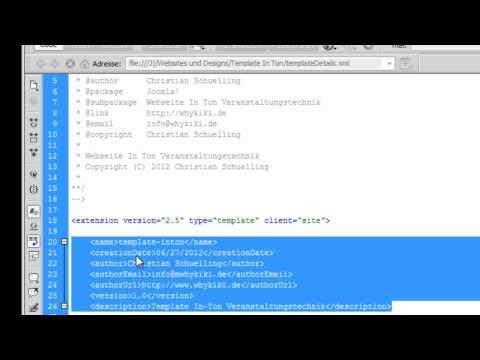 Tutorial Joomla Template erstellen: 1. Die Grundlagen - Einführung in Joomla Templates