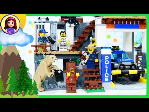 Lego City Mountain Police Headquarters Build the Police Station Review Silly Play Kids Toys