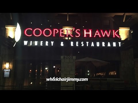 Cooper's Hawk Winery and Restaurant Orlando, FL - Wheelchair Accessibility Review