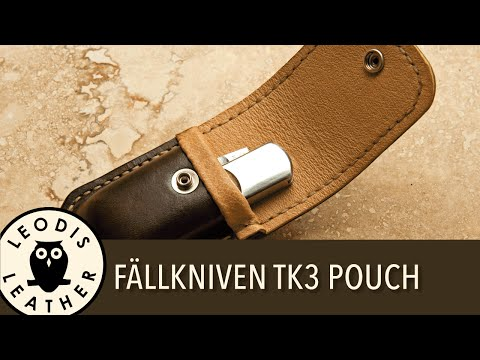 Making a Pigskin Lined Leather Pouch for a Fallkniven TK3 Pocket Knife