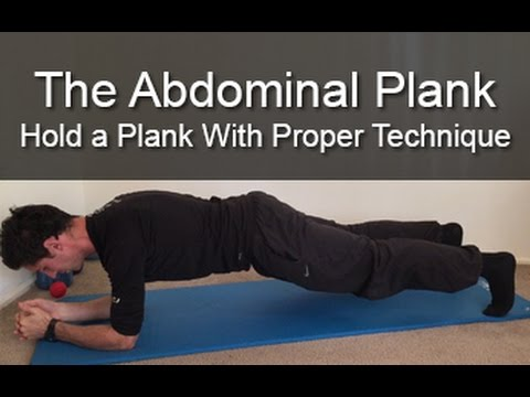 How to hold a plank with proper technique
