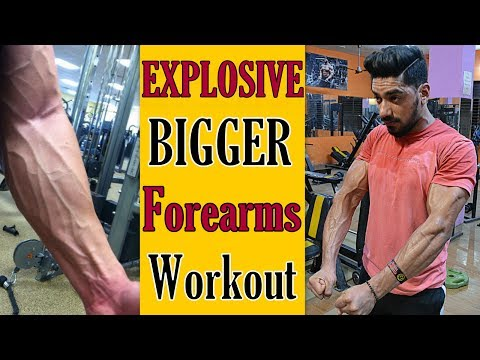 EXPLOSIVE Forearm Workout for Size - Top 4 Best Exercise | bodybuilding