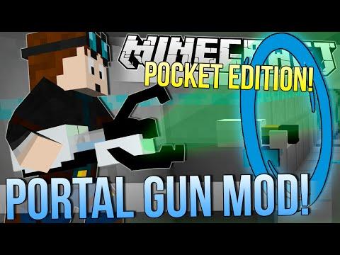 Minecraft Pocket Edition | PORTAL & GRAVITY GUN MOD! | Mod Showcase