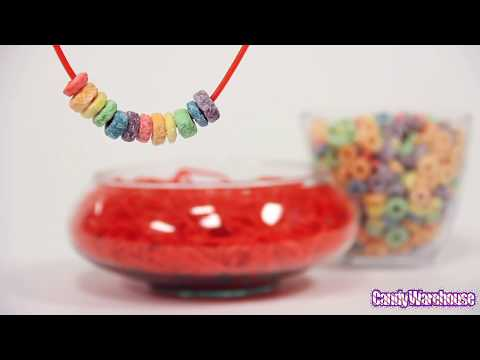 Froot Loops & Licorice CANDY NECKLACE TUTORIAL