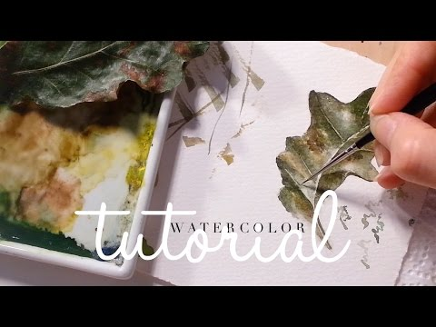 Painting Delicate Leaf Veins - Botanical Art: How to use Watercolor