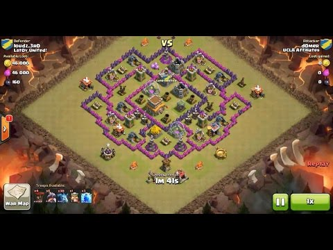 Clash of Clans TH8 vs TH8 Dragon, Balloon & Minion (Dragloonion) Clan War 3 Star Attack