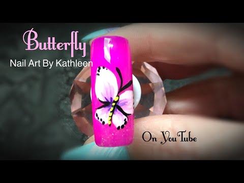 Easy Butterfly Nail Art Tutorial