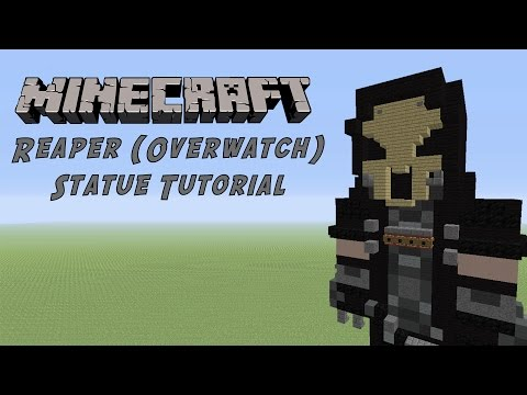 Minecraft Tutorial: Reaper (Overwatch) Statue