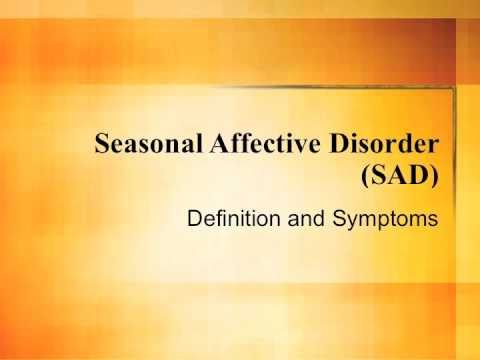 Seasonal Affective Disorder - It's Not Just the Winter Blues (Part 1)