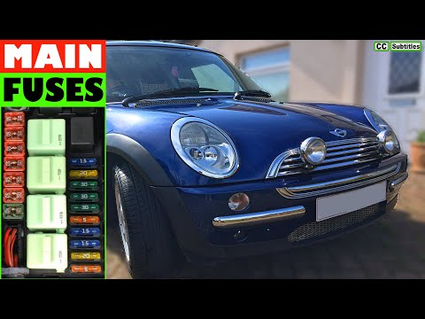 How to check main fuses on Mini R50 R53 2000-2006 First Generation