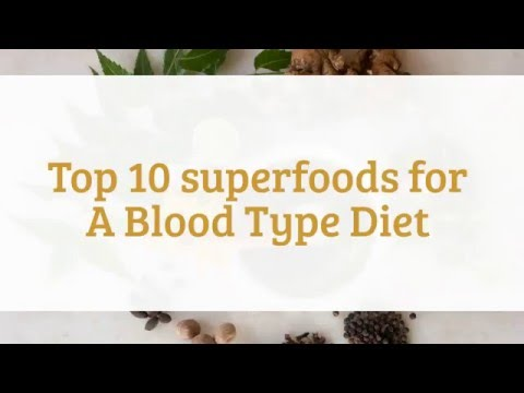 Top 10 superfoods for A Blood Type Diet - Eat these if you are A Blood Type