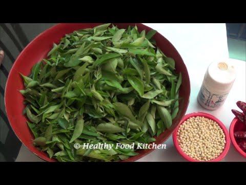 Curry Leaves Idli Podi Recipe-Curry Leaves Powder-Kariveppilai Idli Podi By Healthy Food Kitchen
