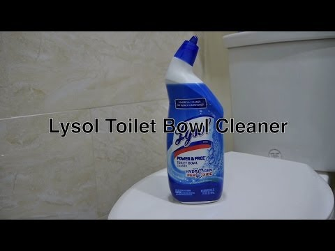Lysol Toilet Bowl Cleaner Works the Best For the Money With a Toilet Bowl Brush and Cleaning Flush