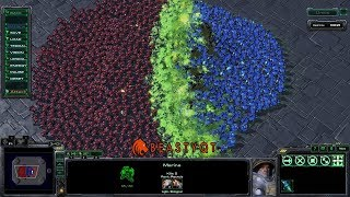 StarCraft 2: 700 Marines VS 350 Banelings!!