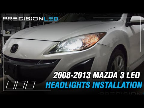 Mazda 3 LED Headlights How To Install - 2nd Gen 2008-2013