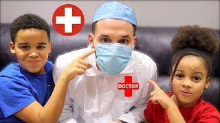 Doctor Daddy Gets Caught! Johny Johny Yes Papa