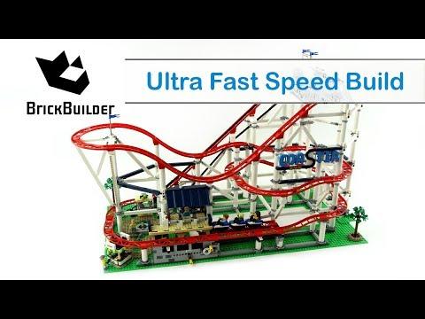 Ultra Fast Speed Build Lego Creator 10261 Roller Coaster
