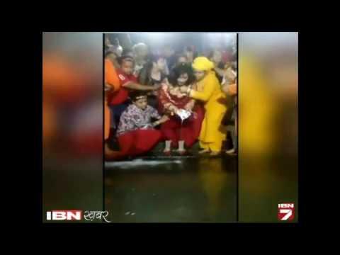 Furore over Radhe Maa performing Ganga Puja at Har ki Pauri wearing shoes