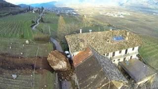 Tramin / Termeno - Felssturz / Frana / Rock fall - Luftaufnahmen Aerial riprese aeree  21.01.2014