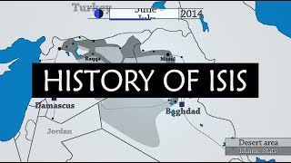 ISIS - Rise and fall of Islamic State territory on a map / 2018