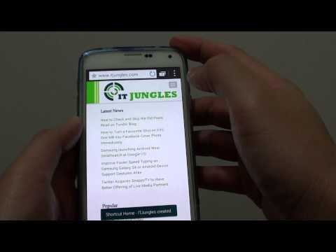 Samsung Galaxy S5: How Add Website Shortcut Link on Home Screen