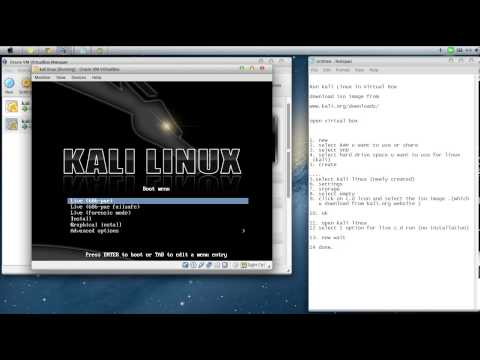 kali linux live cd on virtual box