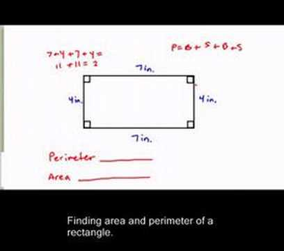 Finding perimeter and area of a rectangle.