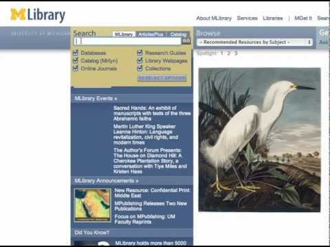 Getting Started with ISI Web of Science at MLibrary