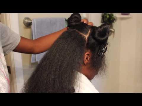 Straightening Long Natural Hair | Morgann Evette