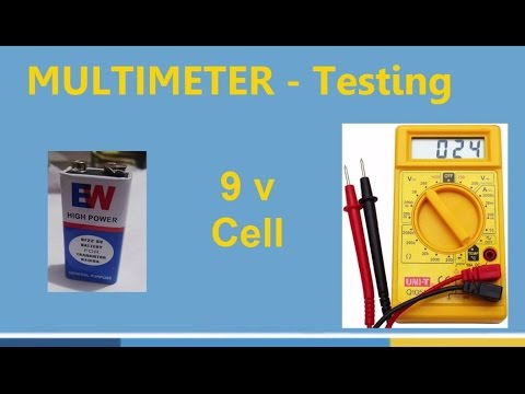 How to Test 9V Battery Cell Using Multimeter & Measure Voltage