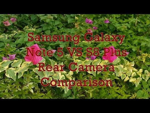 Samsung Galaxy Note 5 VS S8 Plus Rear Camera Comparison