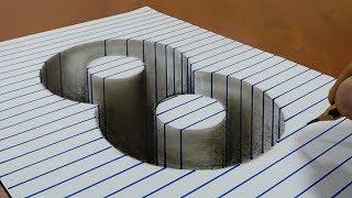 Draw a number four (4) on Line Paper 3D Trick Art - PakVim