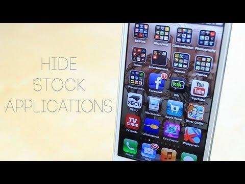 Hide stock iOS apps no jailbreak needed on iPhone, iPod, and iPad
