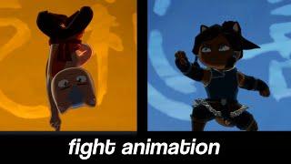 Aang vs Korra FIGHT - Avatar: The Last CATbender - Fan Animation