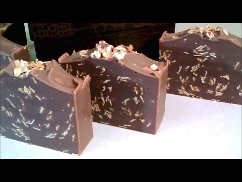 Making & Cutting 'Chocolate Mint & Oatmeal' CP Soap