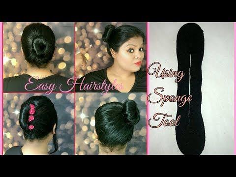 Easy Bun Hairstyles | Magic Sponge Hair Accessories Tool Twist Curler Roller Styler