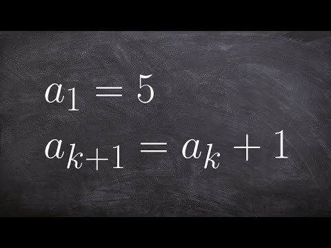 Applying the recursive formula to a sequence to determine the first five terms