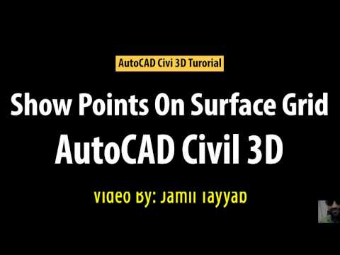 AutoCAD Civil 3D - Grid Points on Surface - Grid Points Coordinates - Free Online Tutorial Classes