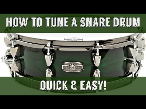 How To Tune A Snare Drum EASY & QUICK
