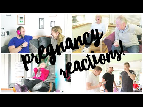LIVE PREGNANCY REACTIONS - FAMILY AND FRIENDS   THIS MAMA LIFE