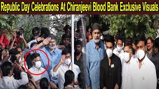 Republic Day Celebrations At Chiranjeevi Blood Bank   Chiranjeevi, Ram Charan,Naga Babu,Allu Aravind